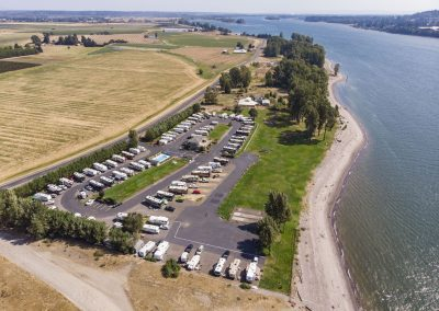 Arial view of the Columbia Riverfront RV Park