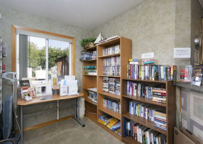 lending library at the Columbia River RV Resort